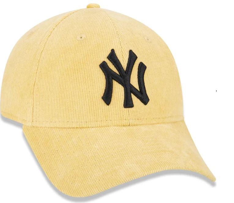 BONÉ 940 NEW YORK YANKEES PASTEL COTELÊ - AMARELO