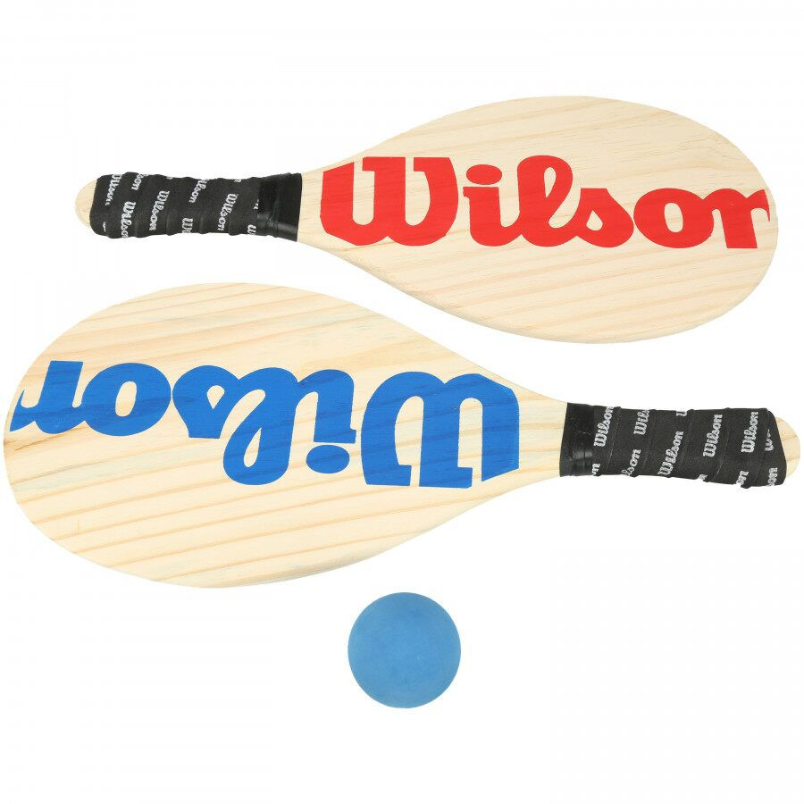 KIT DE FRESCOBOL WILSON: 2 RAQUETES E 1 BOLINHA -  VERMELHO E AZUL