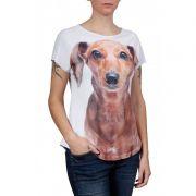 Camiseta Evasê Dachshund - 340706