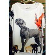 Camiseta Quadrada Animais - 340743