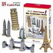 Mini World 3D Famous 1 - 99 Peças B3 - 252005