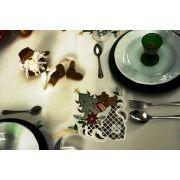 Toalha de Mesa Mehndi - Presente de Natal 140x140cm - 179633