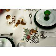 Toalha de Mesa Mehndi -  Presente de Natal 80x80cm - 179613