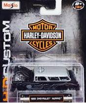 1955 chevrolet nomad Harley Davidson Hd Maisto 1/64