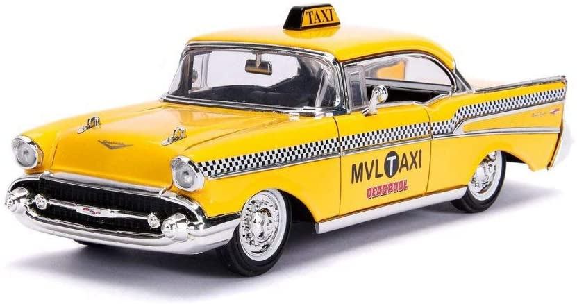 1957 Chevy Bel Air Taxi, Deadpool - Jada - 1/24