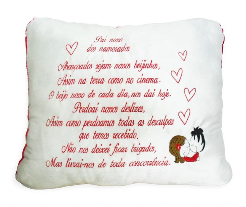Almofada Romantica - Pai Nosso - 335050