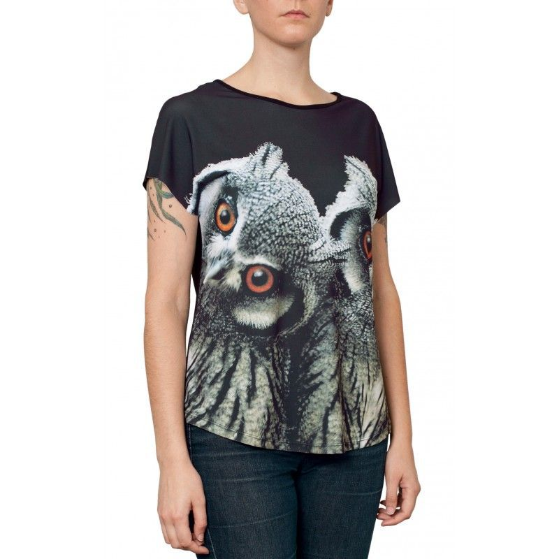 Camiseta Evasê Corujas - 340724
