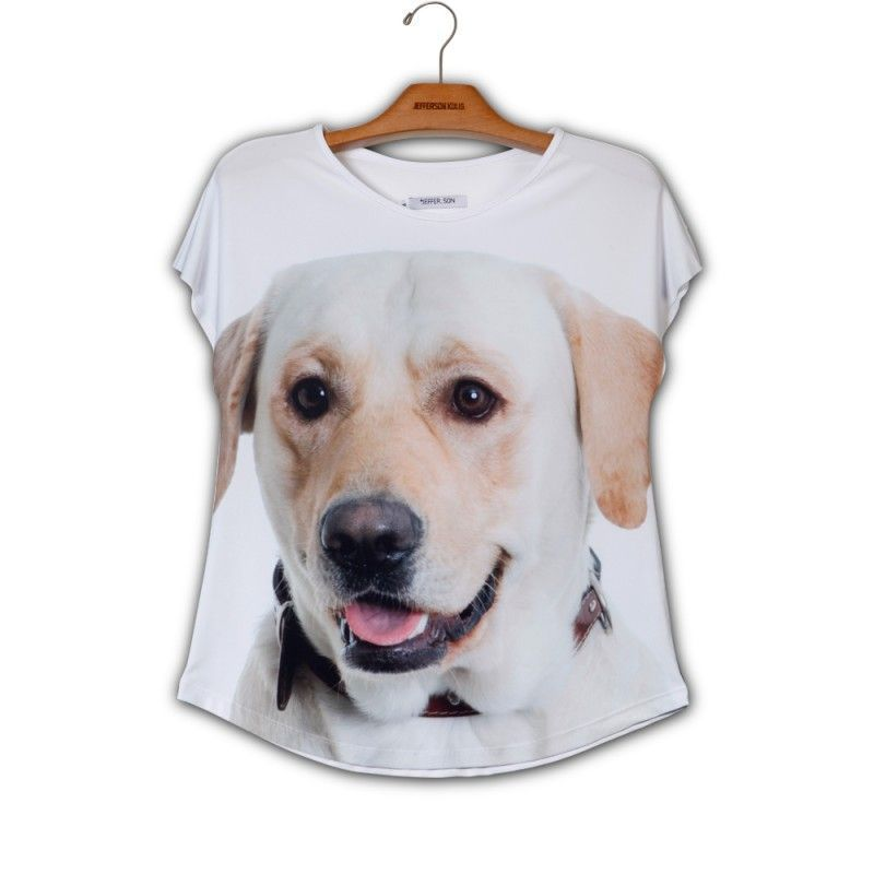 Camiseta Evasê Labrador Mel - 340731