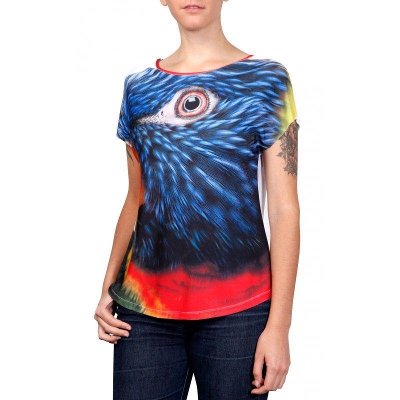 Camiseta Evasê Lóris Arco-Iris - 340723