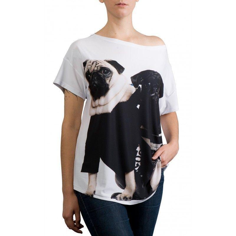 Camiseta Quadrada Pugs - 340722