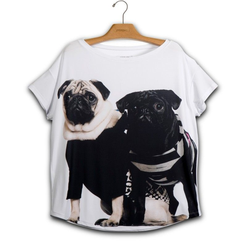 Camiseta Quadrada Pugs - E1 340722