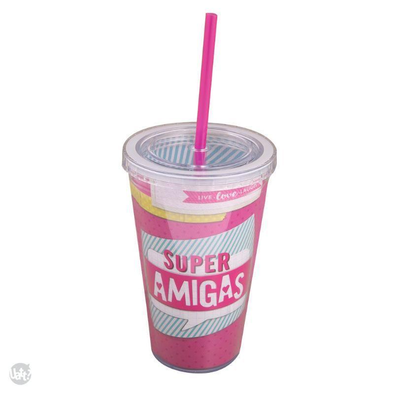 Copo Canudo - Super Amigas - D4 365818