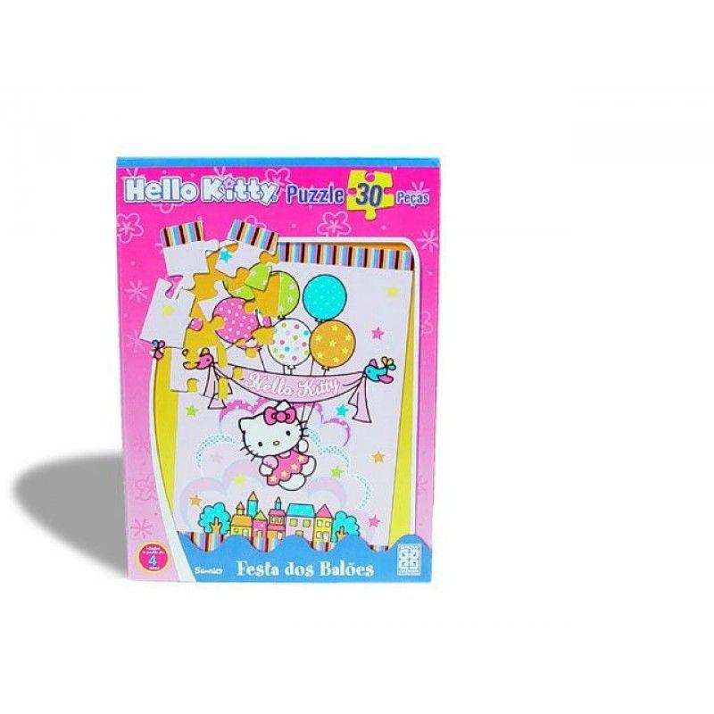 Hello Kitty Festa dos Balões - 30 Peças - 251651