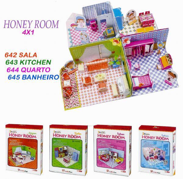 Honey Room Bathroom 3D - 41 Peças B2 - 137552