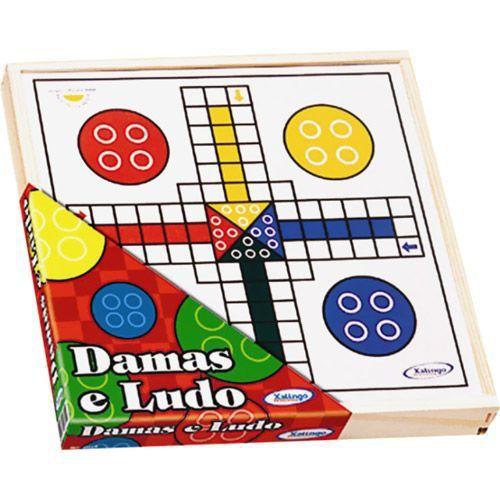 Jogo de Madeira Damas e Ludo - 313050