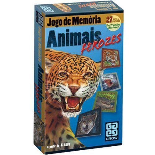 Jogo de Memória Animais Ferozes  B4 - 251860