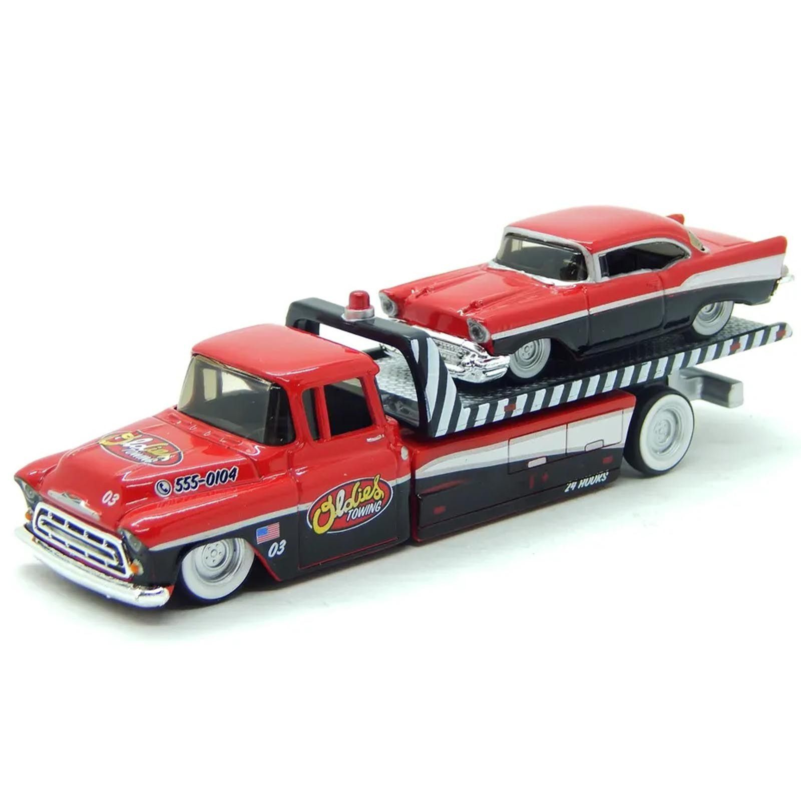 Maisto 1:64 Elite Transport - 1957 Chevy Flatbed / 1957 Chevy Bel Air     -   6143