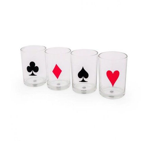 Poker Night 4 copos whisky - D2  - 3997