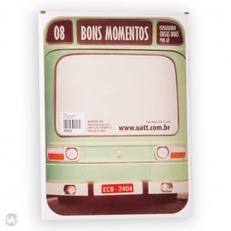 Porta Retrato Onibus - Bons Momentos - 334913