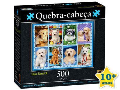 Puzzle 500 peças - Adoráveis Caezinhos - 250999