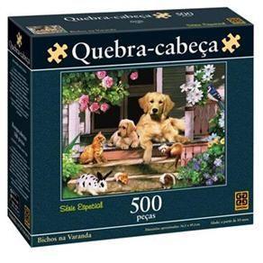 Puzzle 500 peças - Bichos na Varanda  -  B6  - 250995