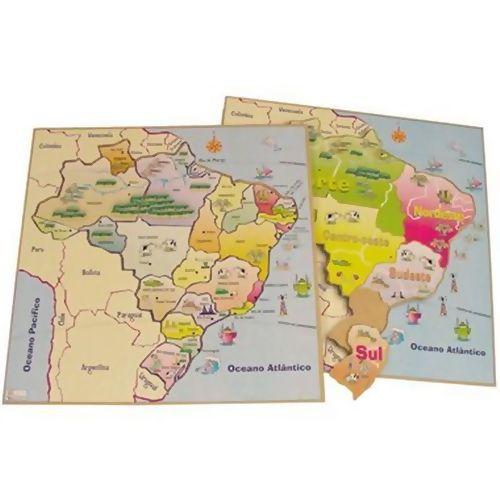 Quebra Cabeça Mapa do Brasil -  B9 256611