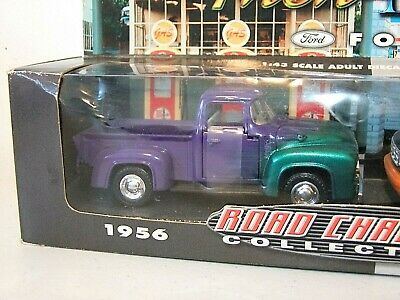 Road Champs THEN & NOW 1956 & 1994 Ford F-100 Pickup Trucks 1:43