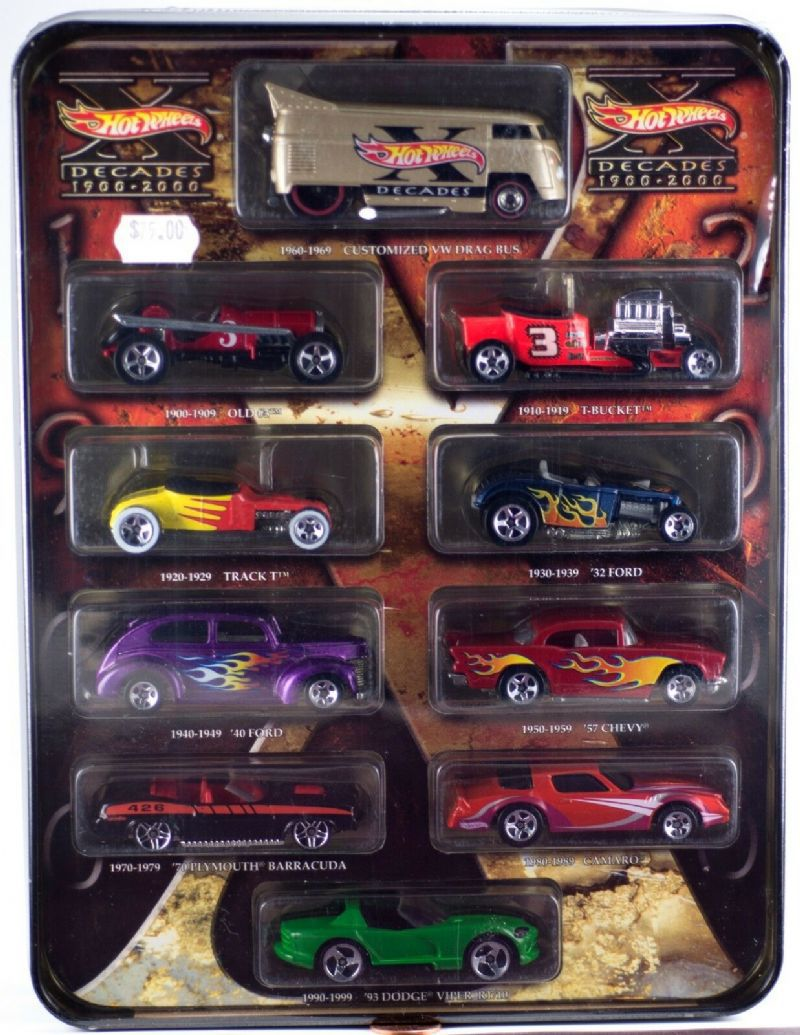 Set Hot Wheels Decades 1900-2000 - 329626