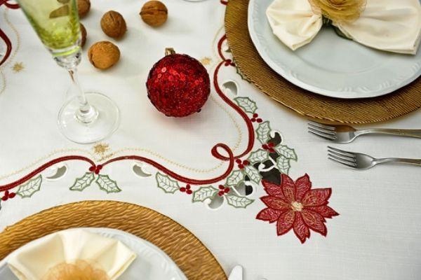 Toalha de Mesa Mehndi - Encanto de Natal 180cm - 179866