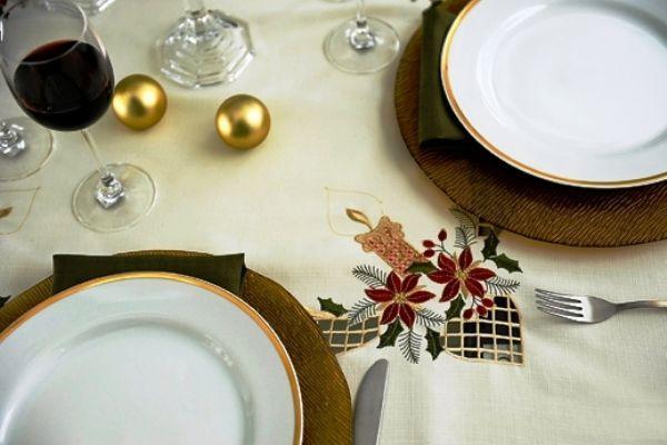 Toalha de Mesa Mehndi  - Noite de Natal 180cm - 179855