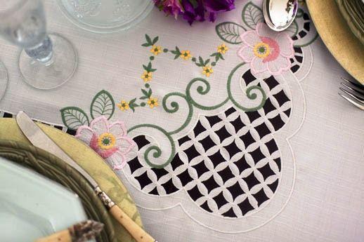 Toalha Mehndi Momentos Flor Rosa - Retangular -  170x320cm - 210527