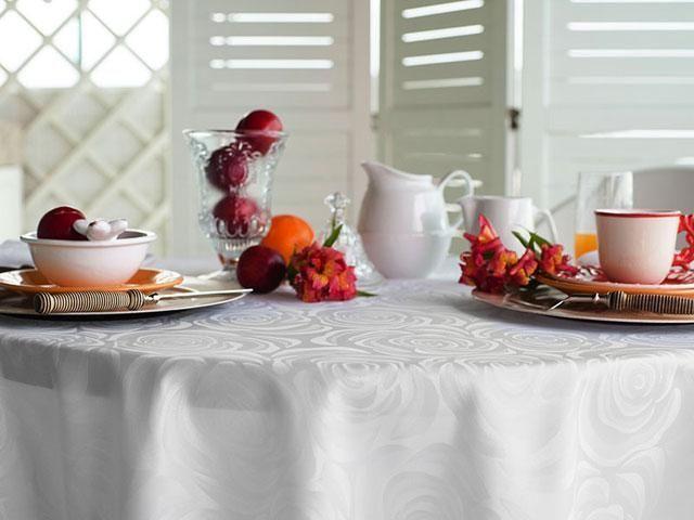 Toalha Prática Mehndi Branca - Redonda - 330394