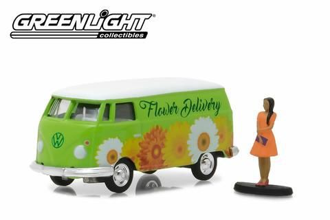 Volkswagen Panel Van With Woman Wearing Dress - 380564