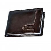 10 Carteira com detalhe horizontal, porta cartões, porta moeda/níquel interno e duas divisórias