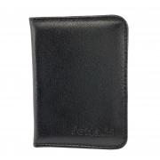 304 Mini carteira vertical slim em couro com porta CNH, cartões e divisória para cédulas
