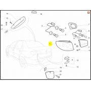 Lanterna Traseira LE, Fiat, Siena, 51789761