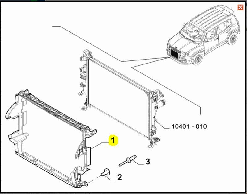 Convergedor Ar, Jeep, Renegade, 51976304