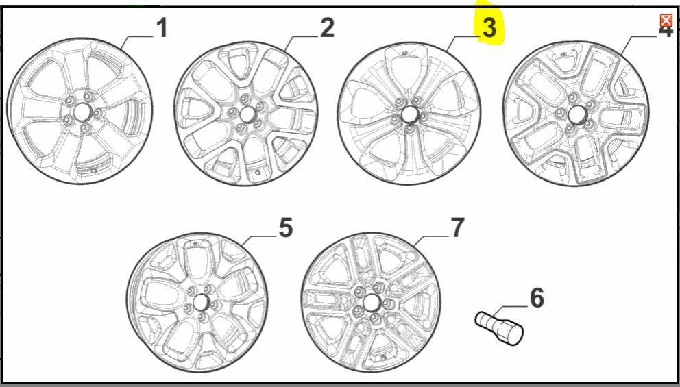 Roda Liga Leve, Jeep, Compass, 53296526