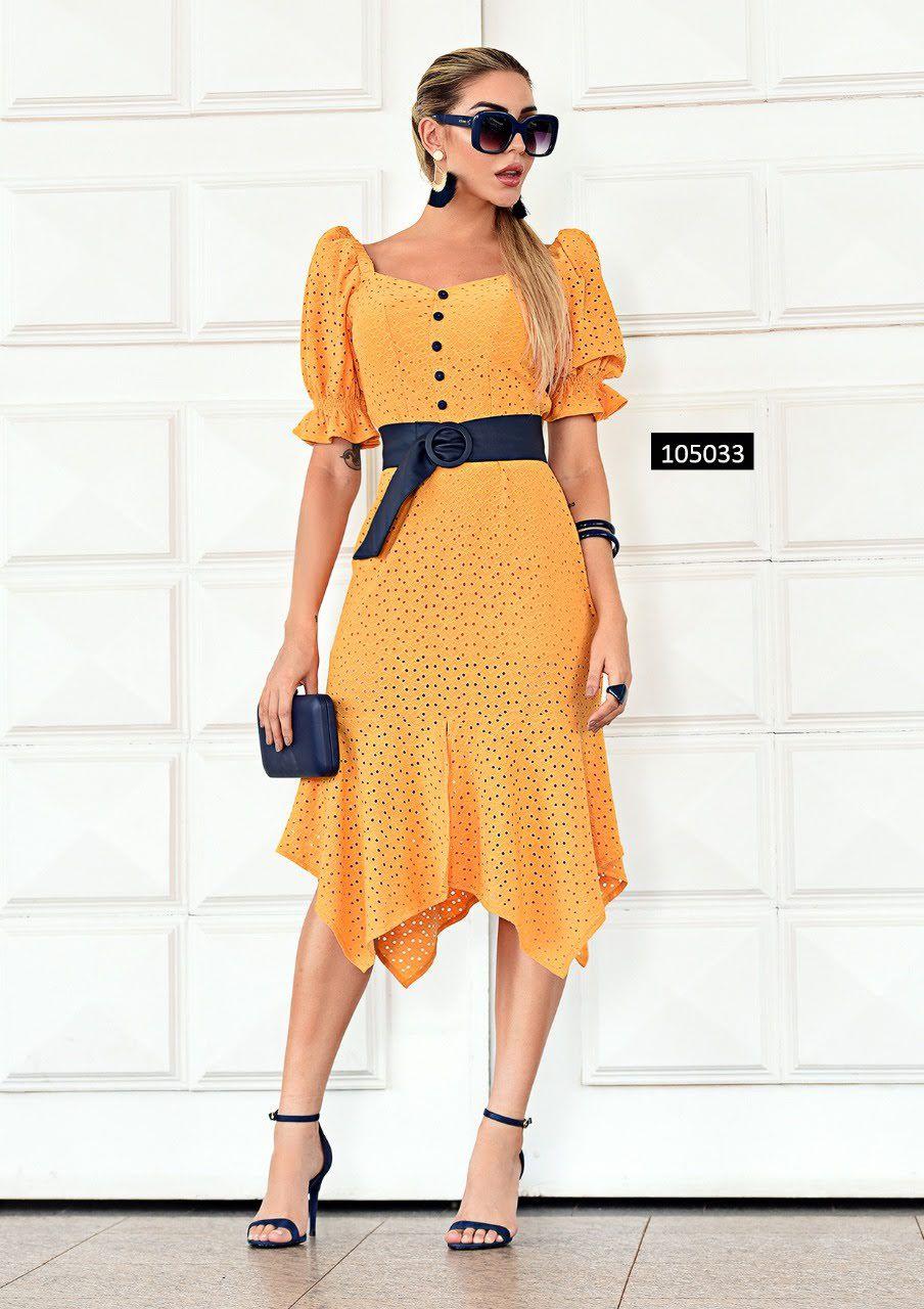 Vestido Amarelo Básico