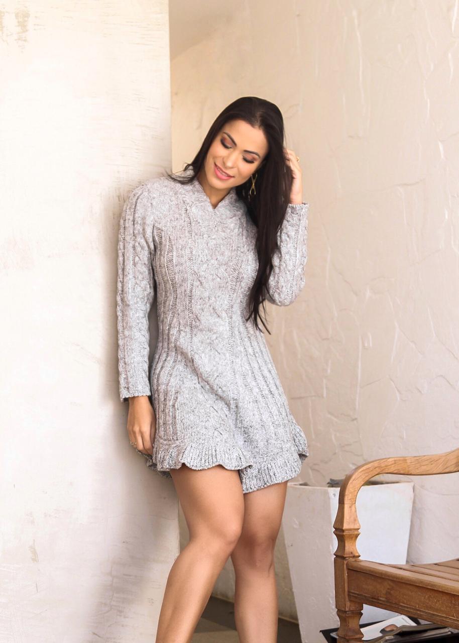 Vestido de trico