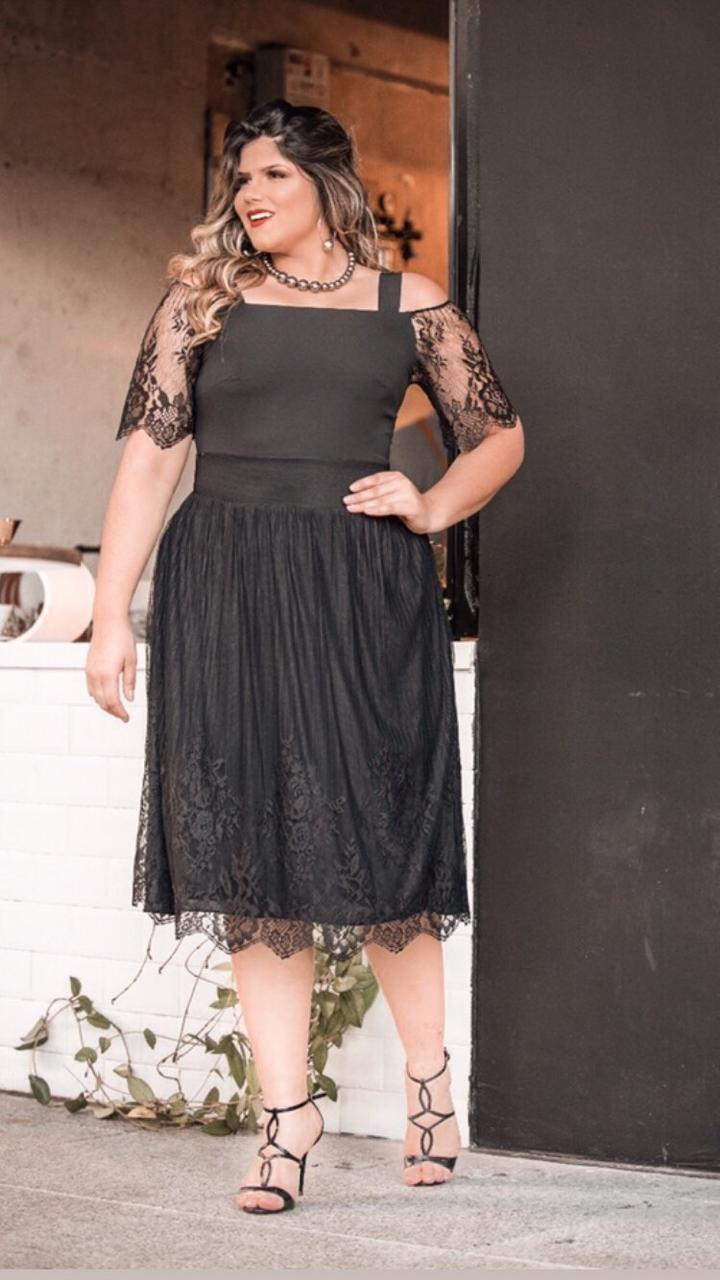 Vestido de Tule Preto