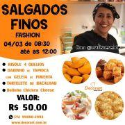 CURSO 04/03 SALGADOS FINOS FASHION DE 08:30 ÀS 12:30 COM MARI RESENDE
