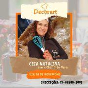 CURSO DE CEIA NATALINA DIA 28/11 as 13h CHEF DIDA NERES BISPO