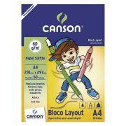 BLOCO SULFITE A4 60G/M² CANSON 50FLS CANSON