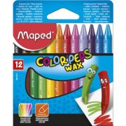 GIZ CERA 12 WAX CRAYONS COLOR PEPS MAPED