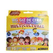 GIZ DE CERA BIG MULTICULTURAL 12 CORES ACRILEX