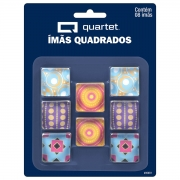 ÍMÃ QUADRADO DECORADO - BLISTER COM 08 UNIDADES TILIBRA