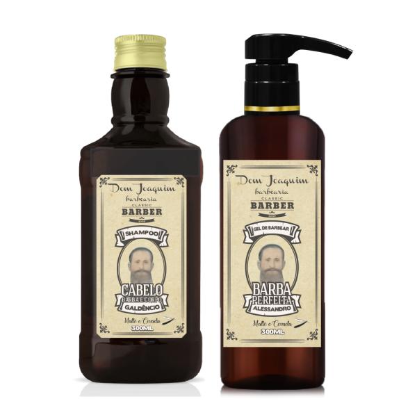 Kit Shampoo 3 em 1 com Gel de Barbear