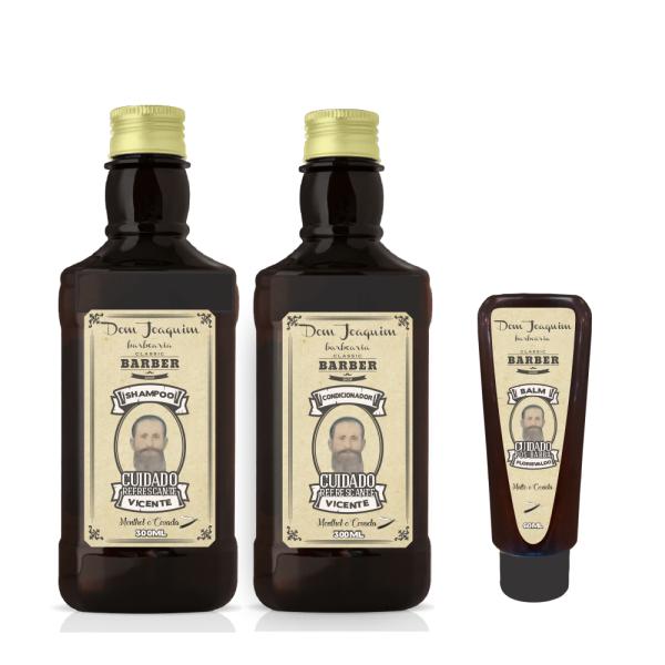 Kit Shampoo e Condicionador Cuidado Refrescante com Balm Pós Barba