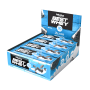BEST WHEY BAR DISPLAY 12 UNIDADES COOKIES & CREAM